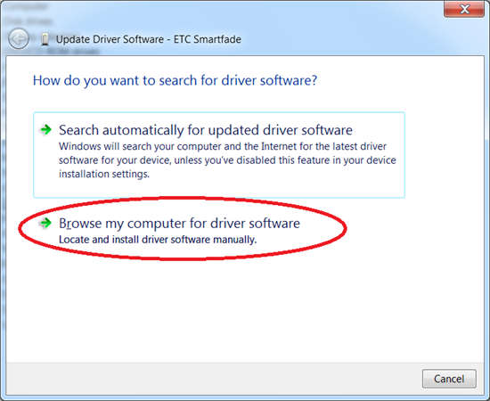Update Driver Software