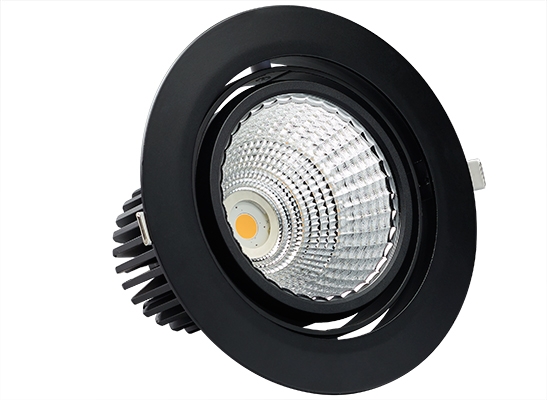 1 Cell Recessed adjustable black