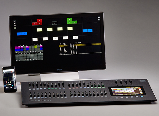 ColorSource Console 40AV monitor and remote