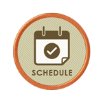 CUE Schedule badge