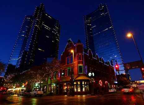 ETC Unison Mosaic system lights up festive Sundance Square, Fort Worth, Texas