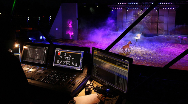 ETC Cobalt 20 controls lights at the EQI Cheval Libre equestrian festival in southern France