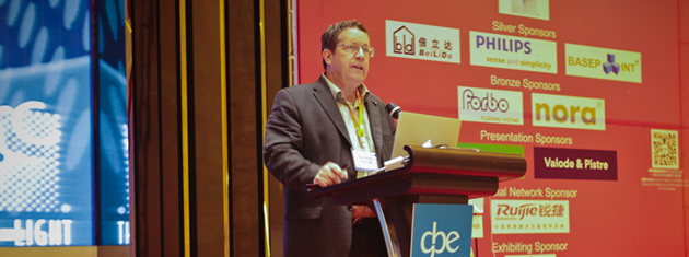 Karl Haas at the China Cultural Building Design and Operations Congress