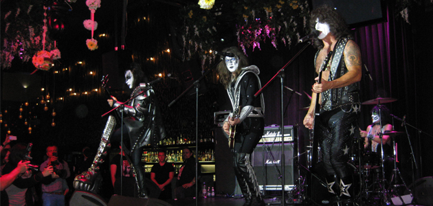 Cover band KISS performs