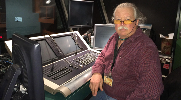 Glee console operator Glen Holland