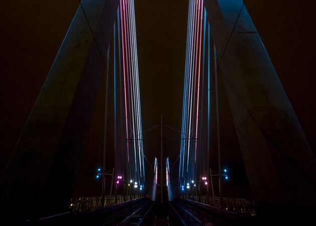 Tilikum Crossing, between the spires Photo credit - (Photo courtesy of TriMet)