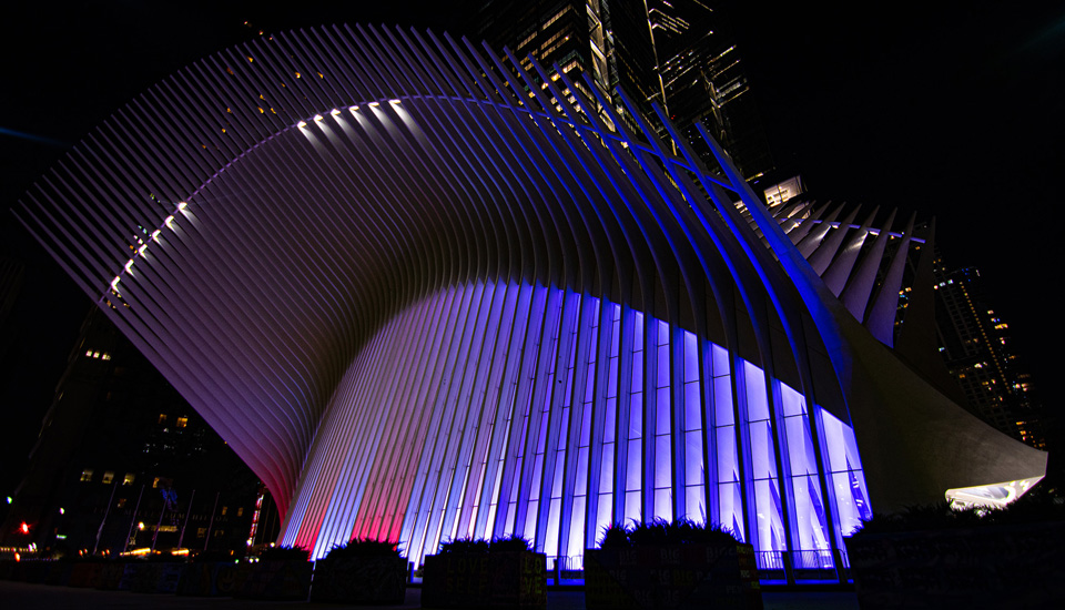 Lighting at Oculus soars to new heights