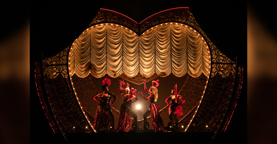 Dancers performing Moulin Rouge