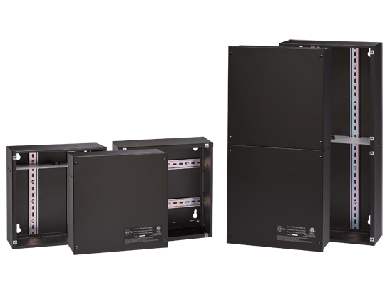 DIN rail enclosures