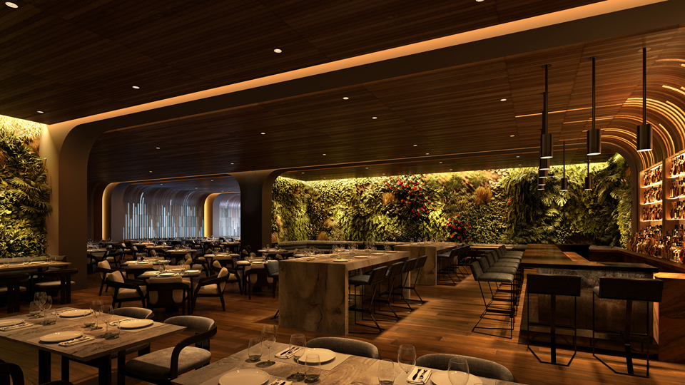 Restaurant with Navis Luminaires