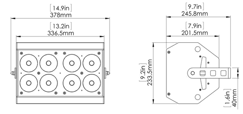 Pro Eight-Cell dimensions