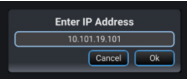 IP address to connect