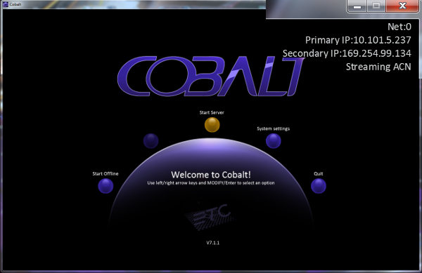 Cobalt ETCnomad Welcome Screen with Inset