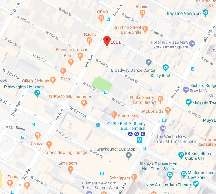 NYC Office Location Map